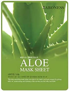 12 of Baroness Aloe highly concentrated nourishing mask sheet.