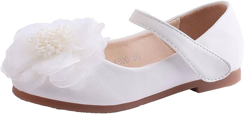 JGKDTX Kids Girl's Ballet Ballerina Flats Flower Girl Princess Dress Shoes School Uniform Mary Jane