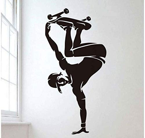 Idee Muursticker Game Skateboard Creatief Vinyl Home Decor Muurdecoratie Licht Leven Mooie muurschildering 42X86 cm
