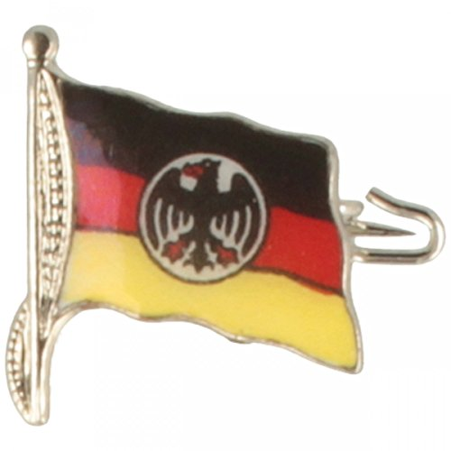 Hutanstecker | Hutabzeichen | Hutschmuck | Anstecker – Deutschland Fahne mit Bundesadler aus Messing – 1,5 x 1,5 cm - MADE IN GERMANY