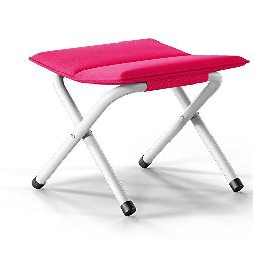 ZDD Tabouret Pliable Portable, Chaise Plus Épais, Bar À Cheval De Pêche, Adulte, Extérieur, Banc De Train, Banquette De Chaussure (Couleur : Rose Red)