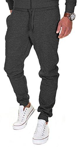 Merish Pantaloni Sportivi Uomo Cotone Slim Fit Pantaloni Allenamento Modell 211 Antracite M