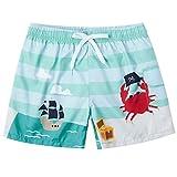 ALISISTER Costume da Bagno Bambino Ragazzo Pantaloncini da Spiaggia Estate 3D Dinosauro Modello Surf Swimwear Bathsuit 3-4 Anni