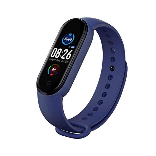 XQTEI Reloj inteligente con pantalla a color, función de podómetro, monitoreo de salud, monitoreo de frecuencia cardíaca, recordatorio de llamada, pulsera de diseño impermeable