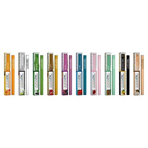VitaStik Ultimate Aroma 10Geschmack Pack | die Vitamin Verbesserte Aromatherapie Stik–ätherisches Öl Diffusor