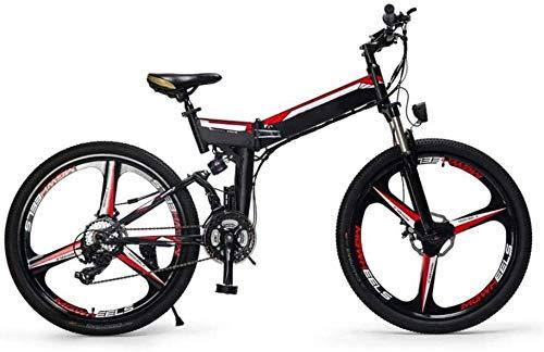 XDHN Batería Desmontable De Bicicleta Eléctrica Plegable Y Térmica Batería De Litio 48V10Ah Caja De Cambios De 24 Velocidades Adecuado para Hombres Y Mujeres