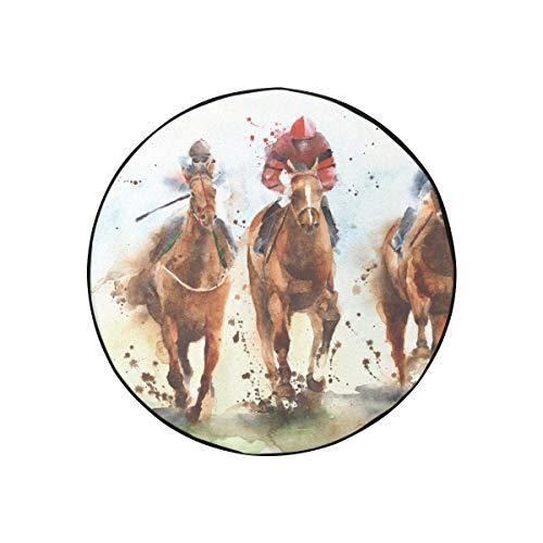 Accesorios para remolques de Viaje Galopante Caballo de Guerra Antiguo Animal Grass Accesorios para remolques de Viaje Cubiertas de Llantas de Camper a Prueba de Polvo portátiles de Moda aptas
