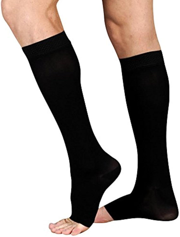 Juzo Soft Knee High 2030mmHg Open Toe, IV, Black