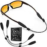 Glasses Strap String Holder - No Tail Eyeglasses Strap Holders - Eye Glasses Accessory Chain - Wired Eyeglass Chains for Women - 16' Glasses Lanyard Men Cord - 2 Pcs