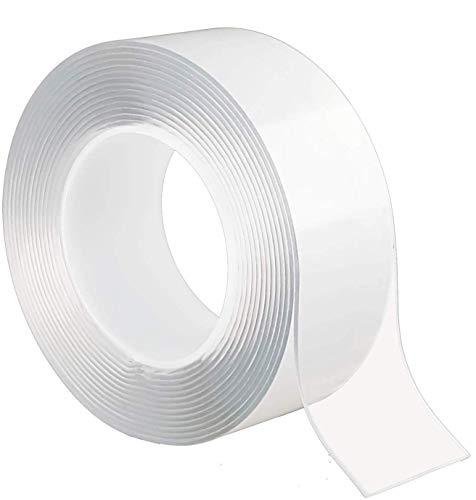 両面テープ 魔法のテープ,養生テープ 透明,マジックテープ 両面テープ付き,耐震ジェル,隙間テープ, 超強力 はがせる,超強力両面テープ, 防水/耐熱/強力/滑り止め/洗濯可能 5m