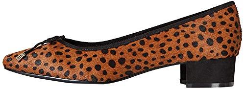 find. Mini Heel Leather Ballet Pumps, Braun Leopard), 38 EU
