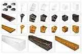 Deco Wood - Tavola in PU rustica – Riproduzione naturale della struttura in legno – stabile e molto leggero – (ET306 marrone chiaro 120 x 35) decorazione industriale in legno