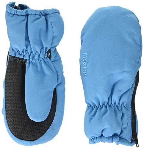 maximo Mädchen mit Daumen mit Reißverschluß Fäustlinge, Blau (Bluette 28), 110/116 (Herstellergröße: 3)