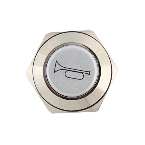 Preisvergleich Produktbild Qiilu Power Schalterknopf,  QL12001 16mm KFZ Rot LED Horn Hupe Druckschalter Druckknopf Drucktaster Knopf Schalter