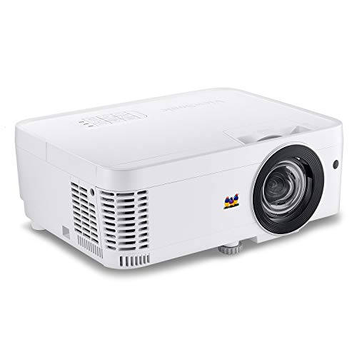 ViewSonic PS600W 3700 Lumens WXGA HDMI Networkable Short Throw Projector for Home and Office