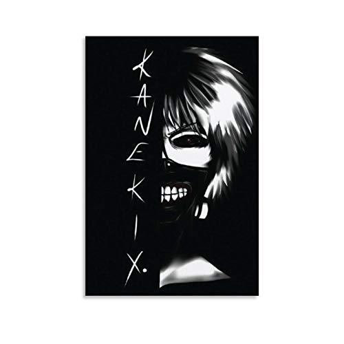ZZBN - Poster di Ken Kaneki Anime Tokyo Ghoul su tela decorativa da parete per soggiorno, camera da letto, 50 x 75 cm