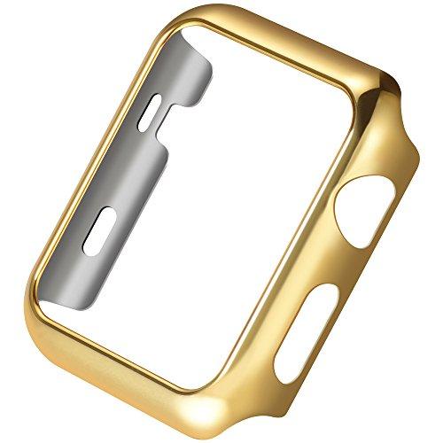 PINHEN Apple Watch Custodia HOCO iWatch Plated Metal Bumper Protettivo Case Cover Custodia per Apple Watch Series 2 (Gold, 38MM)