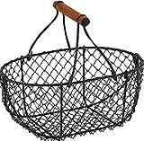 Homes on Trend - Cestas de huevo de metal ovaladas (almacenamiento vintage,...