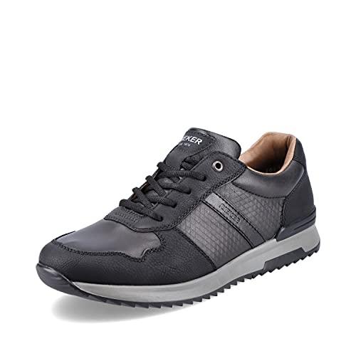 Rieker Herren Low-Top Sneaker 16132, Männer Sneaker,lose Einlage,Turnschuhe,Laufschuhe,schnürschuhe,Men's,Man,Men,schwarz (00),44 EU / 9.5 UK
