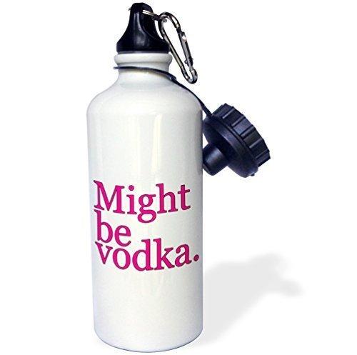 Cukudy kan worden wodka roze sport waterfles, 21oz, wit