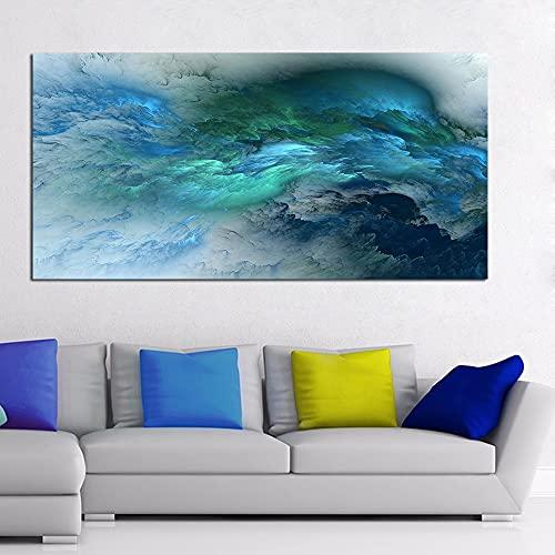 CHBOEN Peinture décorative DDHH Abstrait Couleurs Unreal Toile Art Art mural Peinture Salon Grand Maison Décor Mur Suspendre Art Moderne Art Imprimé Peint (Size (Inch) : 60x120cm no frame)
