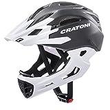 CRATONI(クラトーニ)C-MANIAC (シーマニアック)MTB ストライダー キックバイク ジュニア キッズ用 ジュニア用 フルフェイスヘルメット [ヘルメット] [子供] [キッズ] (Black-White_matt, ML(54-58cm))