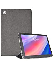Tiamu Funda para tablet Teclast P20HD/Teclast M40, Funda protectora plana de cuero para Teclast P20HD 10,1(Negro)