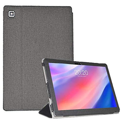 Tiamu Cover Custodia per Teclast P20HD Teclast M40 10,1, PU Caso Pelle Cover Case per Teclast P20HD P20 Tablet, Colore: Nero