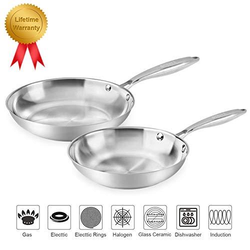 stainless steel fry pan set - 5