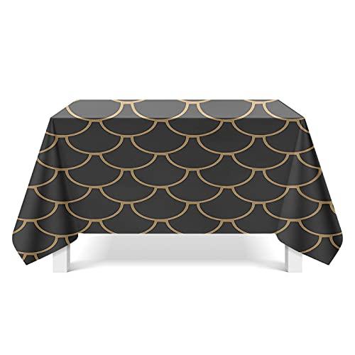 NHhuai Cubierta de Mesa de Simples Adecuado para la decoración de cocinas caseras, Varios tamaños Escamas de Pescado de Color