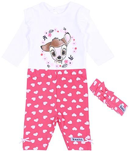 -:- Bambi -:- Disney -:- Set: Body, Leggins, Stirnband 6-9 Monate