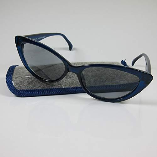KOST 2in1 Damen Lesebrille +3,5 blau getönte Gläser 60er-Jahre-Stil Fertigbrille