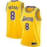 FRHLH Morey, The Rockets, Lakers Kobe Bryant # 8 Trikot - Klassisches ärmelloses Set, Los Angeles, Trikot, Basketball für Männer und Unisex Basket Suit T-Shirt Yellow-XL