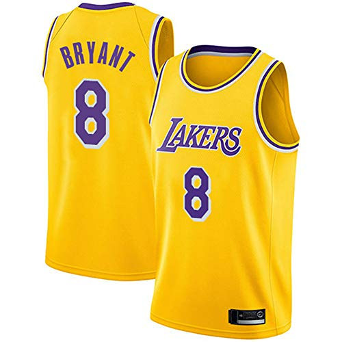 FRHLH Morey, The Rockets, Lakers Kobe Bryant # 8 Trikot - Klassisches ärmelloses Set, Los Angeles, Trikot, Basketball für Männer und Unisex Basket Suit T-Shirt Yellow-M