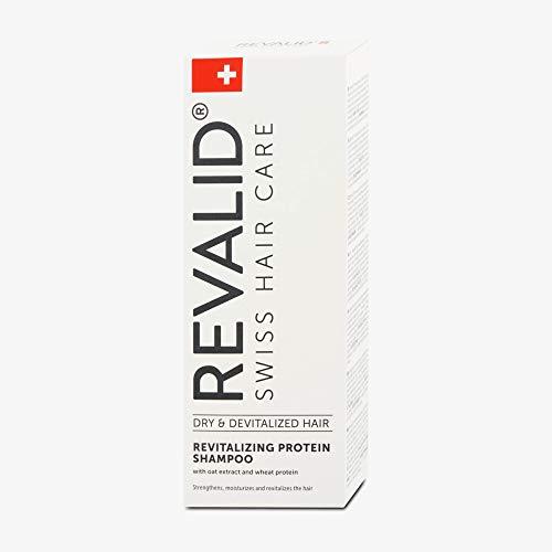 REVALID Revitalisation de shampooing protéine avec avoine extrait de blé protéines et panthénol B5 250 ml fabriqué en Suisse