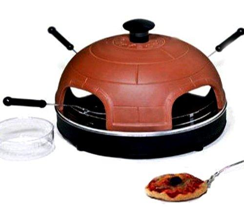 Captelec - Horno de sobremesa para pizzas con campana de terracota