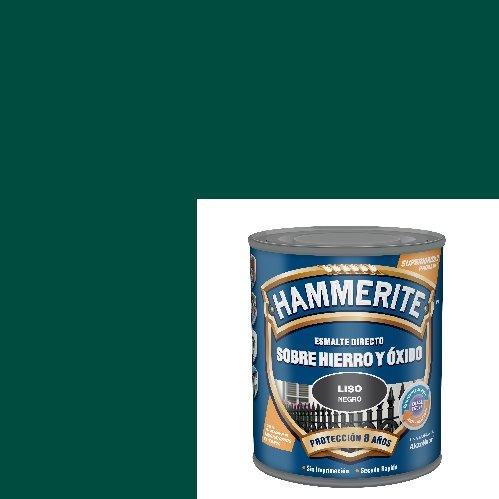 Esmalte Antioxidante Satinado DIRECTO AL HIERRO HAMMERITE Verde 750 Ml.