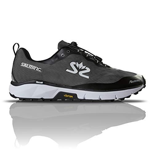 Salming Men's Trail Hydro Waterproof Sports Running Shoes, Grey/Black, 10.5