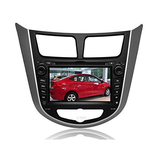 EinCar Pupug 7 Inch in Dash Car DVD Player Special for Hyundai Accent Verna Solaris