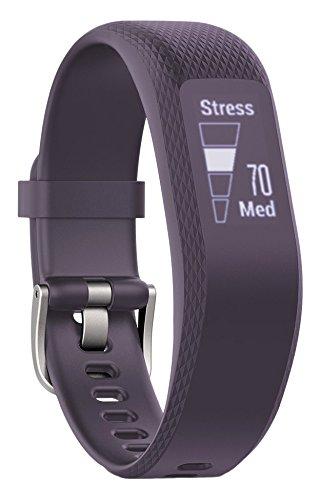 Garmin VivoSmart 3 - Monitor de actividad inteligente con sensor de frecuencia cardiaca en la muñeca y herramientas de fitness, Violeta, S/M