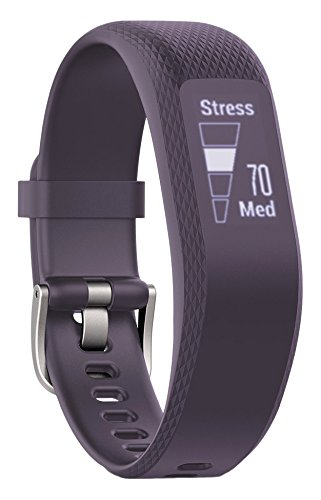 Garmin vívosmart 3 Fitness-Tracker, 24/7 Herzfrequenzmessung am Handgelenk, Smart Notifications, zahlreiche Fitness-Funktionen, Tagesziele, OLED Touchdisplay, S/M