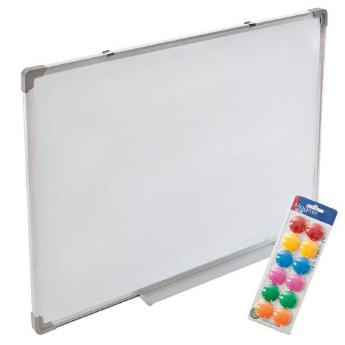 TecTake Magnettafel Whiteboard Memoboard inkl. 12 Magnete -Diverse Größen- (60x45cm)
