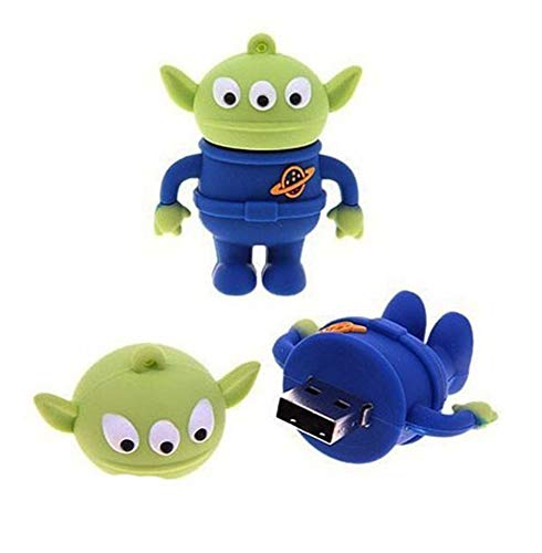 2.0 Toy Story Three Eyed Alien 16GB USB External Hard Drive Flash Thumb Drive Storage Device Cute Novelty Memory Stick U Disk Cartoon
