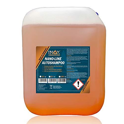 INOX® Nano Line Autoshampoo Konzentrat 10L mit Lotuseffekt - Fahrzeugreiniger Wash & Wax - Für Glanz & Schutz