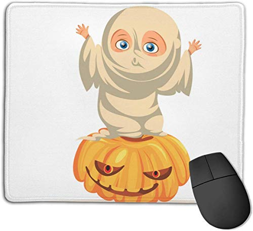 HJJL Mauspad Mousepad Anti-SlipCartoon Child in Halloween Dresses Flat Poster Mouse Pad Mat Mice Mousepad Desktop Mouse pad Laptop Mouse pad Gaming Mouse pad 9.84x 11.8 inches.