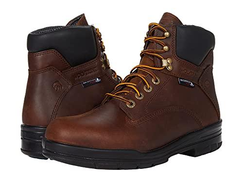 Wolverine Men's DuraShocks SR 6' WP Construction Boot, Dark Brown, 12