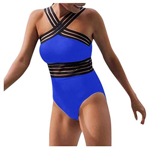 Traje De Baño Bikini Mujer Push-up Acolchado con Cremallera de Borde Ondulado Bañador de una Pieza Patchwork Sólido Sexy Ropa de Playa Talla Grande riou