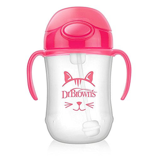 Dr Brown 's Baby 's First Stroh Cup, 270 ml, roze