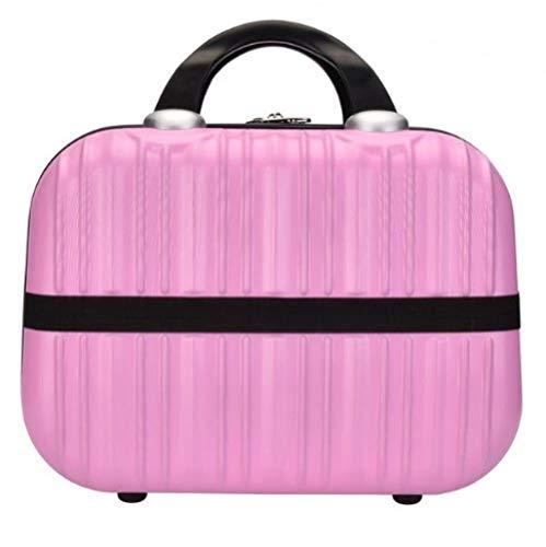 Sac à cosmétiques Sac à Main cosmétique étui de Maquillage boîte à Bijoux verrouillable pour Cadeau ladys31 * 15 * 22cm-Pink_31 * 15 * 22cm