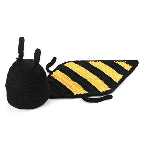 DAYAN Infant Unisex-bébé Garçons Filles Mignon Miel Bébé Costume Bee Photo Photographie Prop Hat Set 0-12 mois